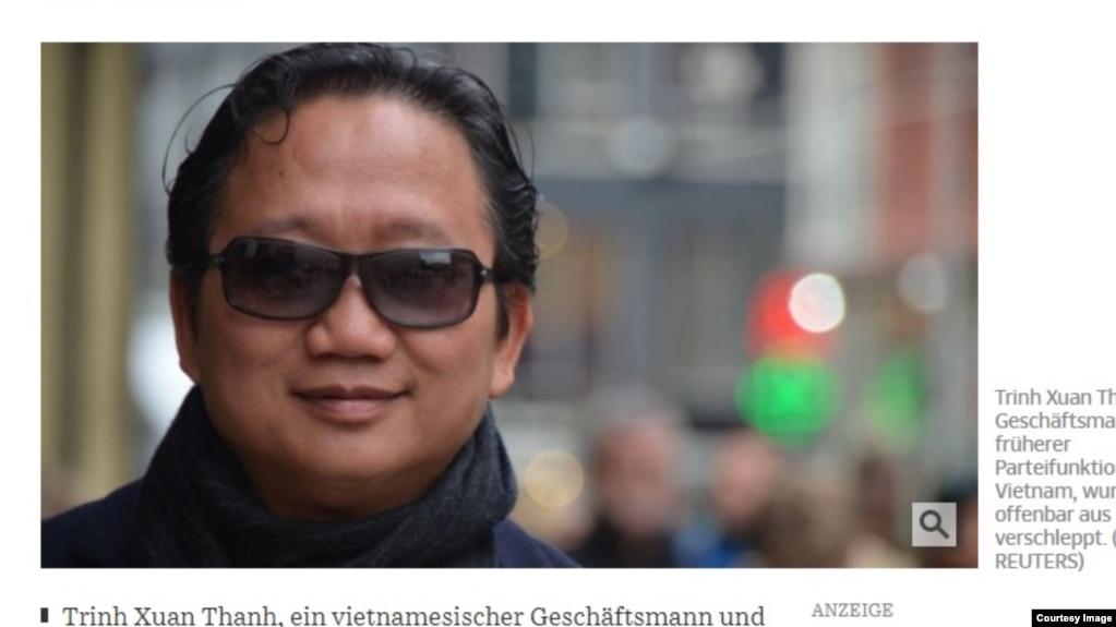 """Hình ảnh Trịnh Xuân Thanh trên nhật báo Đức Suedeutsche Zeitung. Một kinh tế gia của EU khuyên Việt Nam nên tìm """"dê tế thần"""" để chịu trách nhiệm vụ bắt cóc TXT nhằm giải quyết căng thẳng với Đức và có được hiệp định thương mại tự do với EU."""
