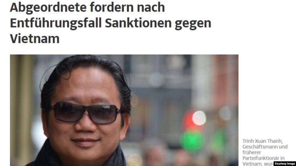 Trịnh Xuân Thanh trên báo của Đức.