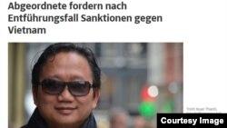Trịnh Xuân Thanh trên báo Đức.