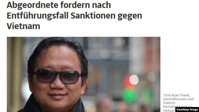 Tháng trước chính phủ Đức quyết định ngừng đối tác chiến lược với Việt Nam sau những căng thẳng ngoại giao vì vụ bắt cóc Trịnh Xuân Thanh ở Berlin. Một tổ chức nhân quyền Việt Nam ở Thụy Sỹ đã phát động chiến dịch loại bỏ đại diện của Việt Nam khỏi danh sách ứng cử viên Tổng giám đốc UNESCO sau vụ bắt cóc này.
