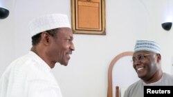 Shugaban Najeriya mai ci Muhammadu Buhari da dan takarar jam'iyyar adawa ta PDP Atiku Abubakar, wadanda za su fafata a neman kujarer shugaban kasa