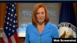 美國務院發言人莎琪稱﹐戰機攔截事件不至影響美中合作。
