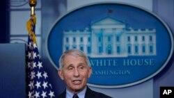 白宫主要医疗顾问、美国国立过敏和传染病研究所(NIAID)所长安东尼·弗契(美联社资料图)