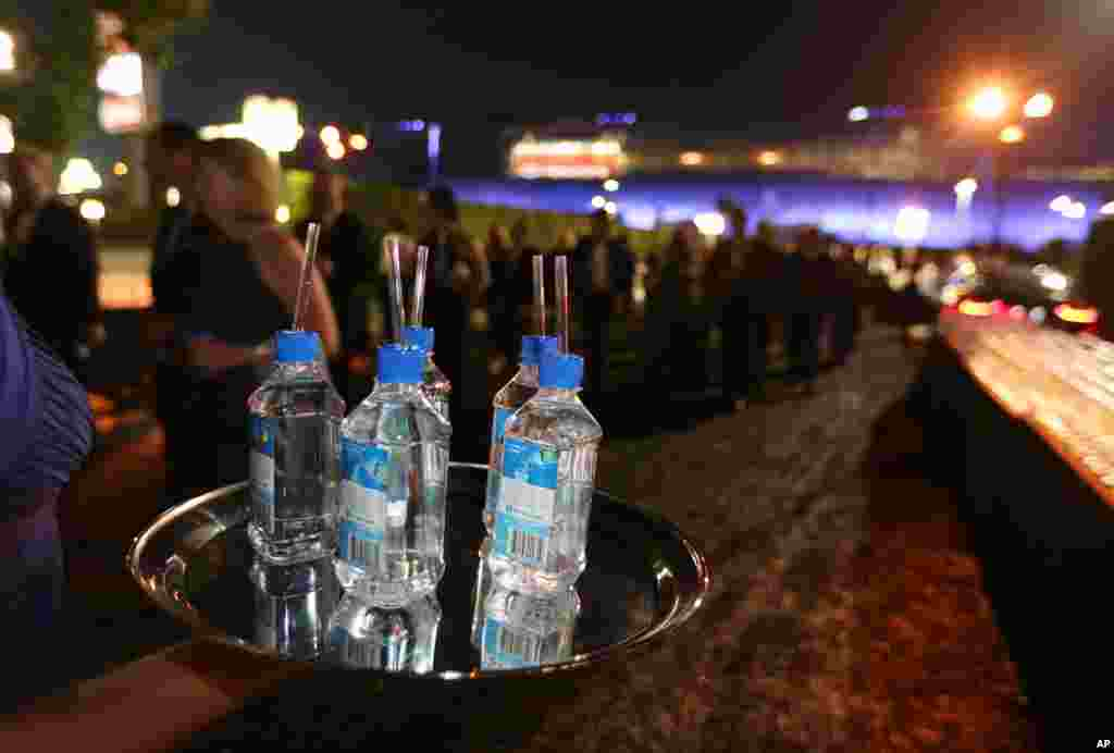 The percentage of Americans consuming bottled water at least once in two weeks grew 10.7 percent from 2004 to 2014. (AP Photo)