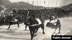 Skijoring - St. Mortiz 1928