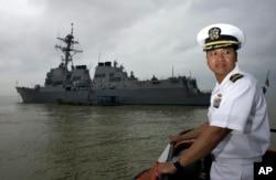 지난 2009년 11월 베트남 다낭시 티엔사 항구에 미 해군의 미사일구축함인 USS 라센호가 입항했다. (자료사진)