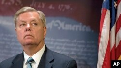 FILE - Senator Lindsey Graham.