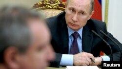 Tổng thống Nga Vladimir Putin chủ trì cuộc họp về chống tham nhũng tại điện Kremlin ở Moscow hôm 26/1.