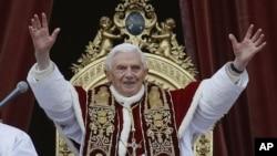 教皇本笃圣诞日在圣彼得大教堂发表祝词