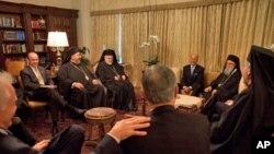 Από την συνάντηση στο γραφείο του Αρχιεπισκόπου κ. Δημητρίου