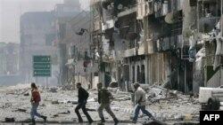 Мисурата под артобстелом войск Каддафи.