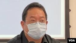 黃志偉認為民調反映香港人對修改選舉制度的不滿。(美國之音湯惠芸攝)