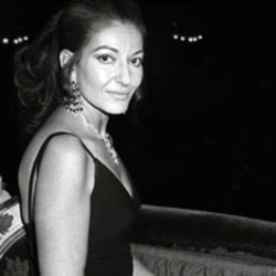 Maria Callas at the La Scala opera house in Milan, Italy