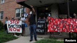 Protest protiv izbacivanja u Marylandu, august 2020.