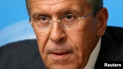 Russian Foreign Minister Sergei Lavrov says Sept. 9, Russia will urge Syria to reach a chemical weapons deal.