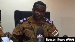 Sita Sangaré, le directeur de la justice militaire du Burkina Faso en charge des enquêtes sur le putsch. (Photo Bagassi Koura, VOA.)