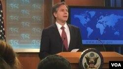 Dini Özgürlükler Raporu'nu açıklayan ABD Dışişleri Bakan Yardımcısı Anthony Blinken