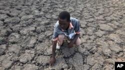 Desa Chivi di Zimbabwe mengalami kekeringan parah akibat kemarau di sana (foto: dok).