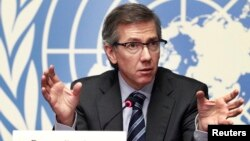 FILE - Bernardino Leon, the U.N. envoy for Libya, says he senses a positive shift in the current round of peace talks, being held in Morocco.