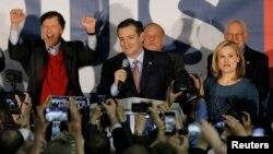 克魯茲宣佈在愛奧華州贏得共和黨初選