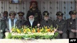 Iranski vrhovni lider ajatola Ali Hamenei tokom današnje svečanosti u sedištu iranske kopnene vojske, u Teheranu