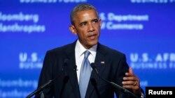 Tổng thống Barack Obama phát biểu tại cuộc họp thượng đỉnh các lãnh đạo Mỹ-Châu Phi ở Washington, ngày 5/8/2014.