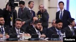 هیأت مخالفان سوری حاضر در مذاکرات صلح سوریه در آستانه