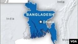 Peta wilayah Bangladesh.