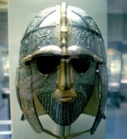 An Anglo-Saxon helmet