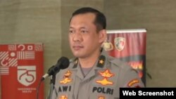 Kepala Biro Penerangan Masyarakat Divisi Humas Polri Awi Setiyono dalam konferensi pers di Jakarta, Senin (26/10/2020). Foto: screenshot