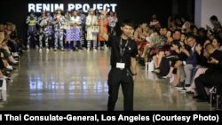 Thai Fashion designer 'Renim Project', Songwut Thongthou walks the runway during the Los Angeles Fashion Week 2019 at the Petersen Automotive Museum in Los Angeles Oct 9, 2019. CA.