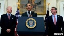 Acompañado del vicepresidente Joe Biden, y el jefe del Pentágono, Ash Carter, el presidente describió el plan propuesto para cerrar la prisión de Guantánamo.
