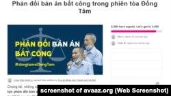 Một kiến nghị về phiên tòa Đồng Tâm nhận được hơn 2.500 chữ ký, 15/9/2020