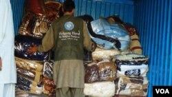 سیلاب زدگان کے لیے امدادی سامان