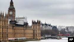 FILE - Britain's Parliament buildings in London, March 10, 2017.