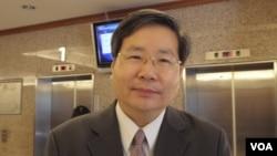 台湾团结联盟立法委员许忠信(美国之音申华拍摄)
