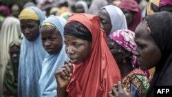 Un groupe de filles dans le village de Sabon Machi, dans la région de Maradi, au Niger, le 16 août 2018.