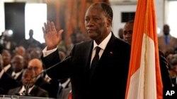 Alassane Ouattara a prêté serment le 6 mai 2011 à Abidjan.