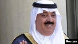 FILE - Saudi Arabian Prince Miteb bin Abdullah at the Elysee Palace in Paris, June 18, 2014.