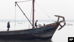 북한의 고기잡이 어선. (자료사진)