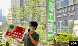 关注锁港条例联合阵线发言人邓建华表示,在建制派议员主导下,他对立法会极速三读通过《2020年入境(修订)条例草案》并不意外 (美国之音/汤惠芸)