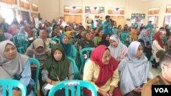Suasana pelaksanaan kegiatan Temu Perempuan Penyintas yang dilangsungkan di aula gedung Inspektorat Provinsi Sulawesi Tengah (3/12/2019) Foto : Yoanes Litha