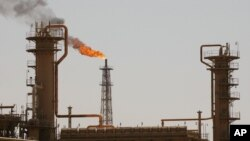 FILE - Iraq's largest oil refinery in the northern town of Baiji.