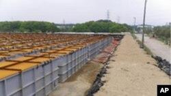 日本核電站放射污染水臨時儲水罐