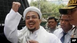 Rizieq Shihab, pemimpin Front Pembela Islam (FPI). (Foto: AP)