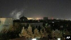 دود ناشی از انفجار راکت در مرکز کابل