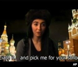 Paola Ogadzhanova delivered part of her video essay in Russian, with English subtitles.
