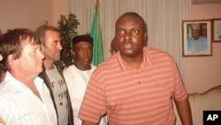 James Ibori (right) in Warri, Nigeria, 2006.