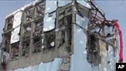 스나미로 파괴된 후쿠시마 원자로 시설