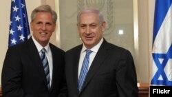 دیدار بنیامین نتانیاهو و کوین مک کارتی رئیس فراکسیون اکثریت در مجلس نمایندگان آمریکا